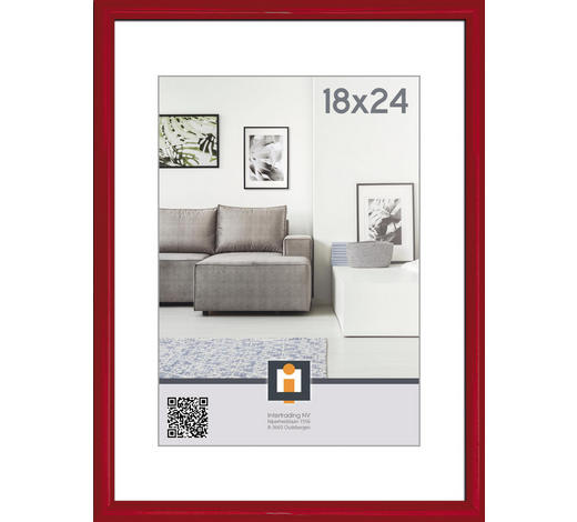 RÁM NA OBRAZY, 25/19/1.75 cm, červená - červená, Basics, umělá hmota/sklo (25/19/1.75cm)