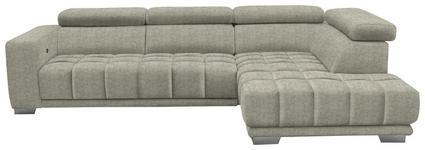 WOHNLANDSCHAFT in Textil Beige  - Chromfarben/Beige, Design, Textil (301/207cm) - Xora