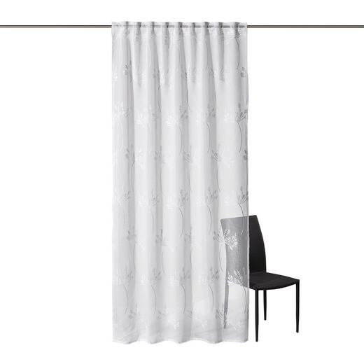 FERTIGVORHANG  halbtransparent  135/245 cm - Weiß, KONVENTIONELL, Textil (135/245cm) - Esposa