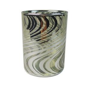 VÄRMELJUSHÅLLARE - silver, Design, glas (9/13,5cm) - Ambia Home