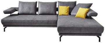 WOHNLANDSCHAFT in Textil Anthrazit  - Anthrazit/Schwarz, Design, Textil/Metall (305/224cm) - Dieter Knoll