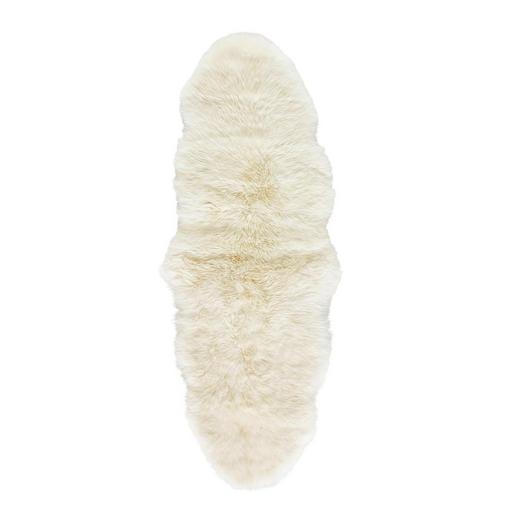 SCHAFFELL  140/60 cm  Weiß - Weiß, LIFESTYLE, Leder/Fell (140/60cm) - Linea Natura