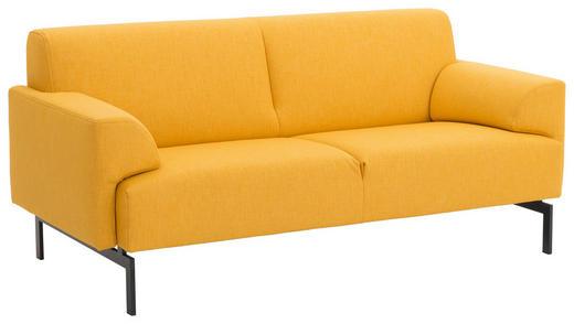SOFA Gelb - Gelb/Schwarz, Design, Textil/Metall (182/81/91cm) - Rolf Benz