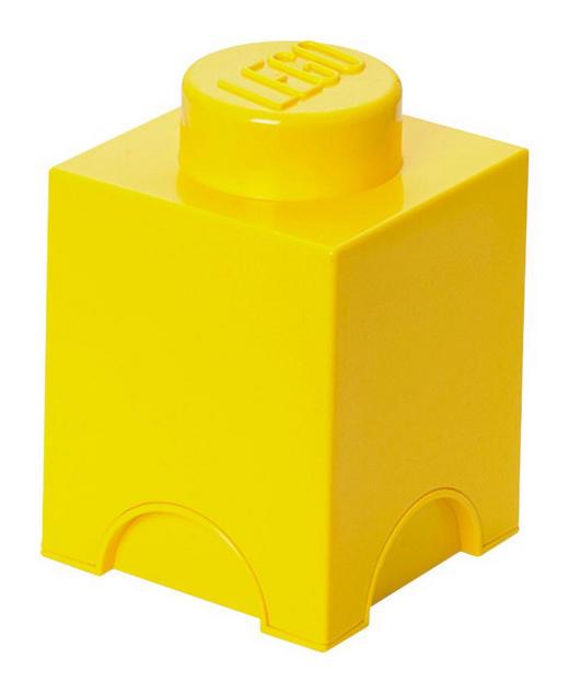 AUFBEWAHRUNGSBOX 12,5/12,5/18 cm - Gelb, Trend, Kunststoff (12,5/12,5/18cm) - Lego