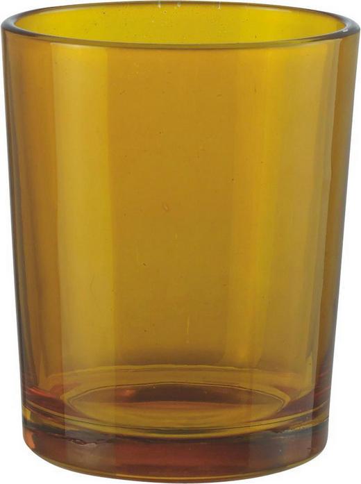 TEELICHTGLAS - Orange, Basics, Glas (5.5 6.5 cm)
