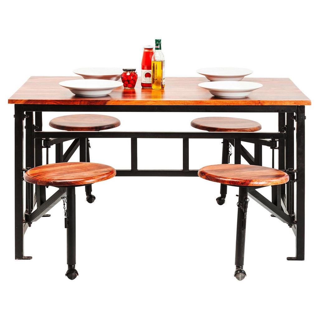 Wunderbar Tischgruppe In Holz, Metall Braun, Schwarz