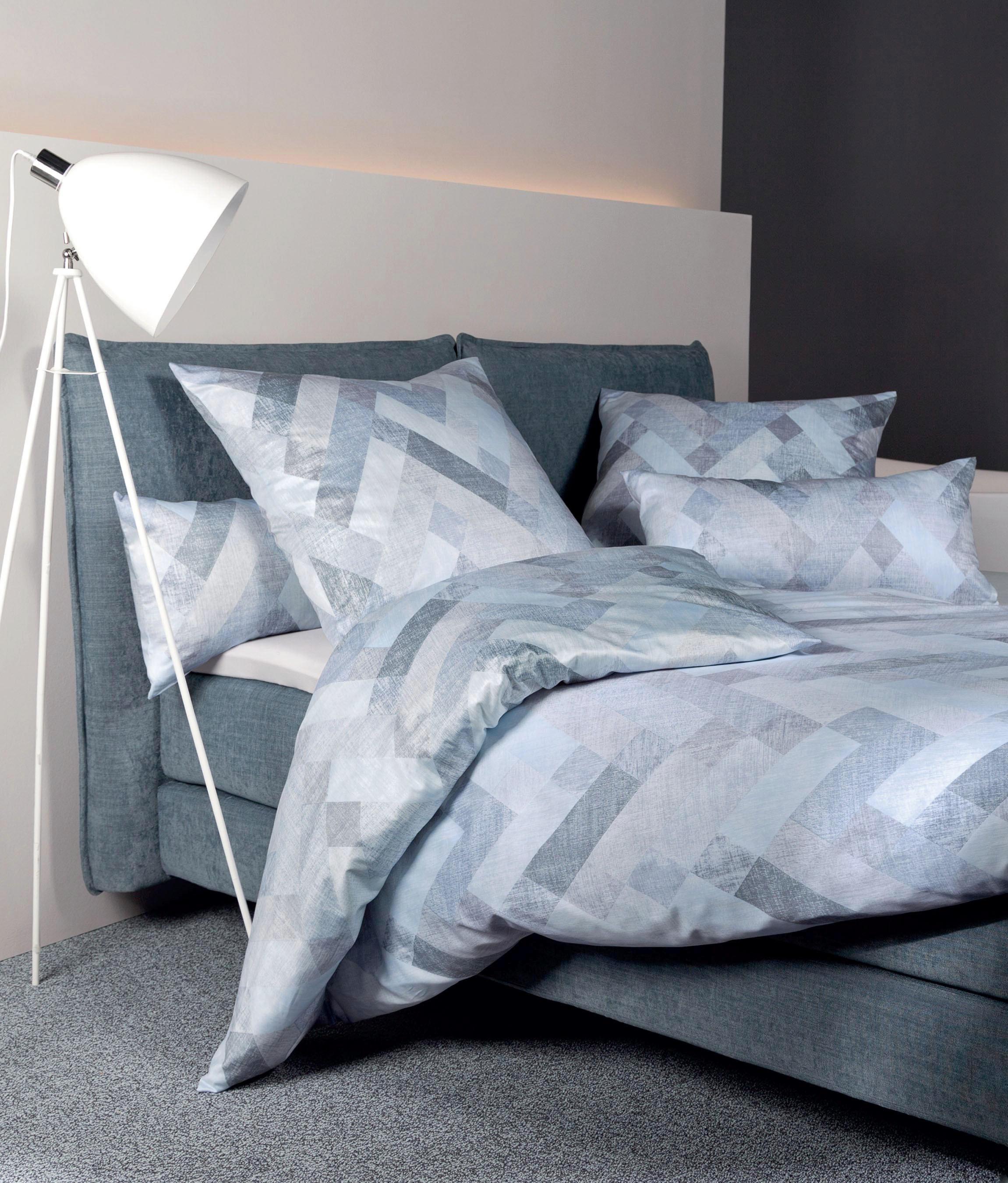 BETTWÄSCHE Makosatin Hellblau 135/200 cm - Hellblau, Textil (135/200cm) - JANINE