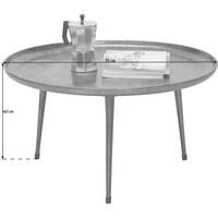 COUCHTISCH in Metall  75/40 cm - Grau, Design, Metall (75/40cm) - Xora