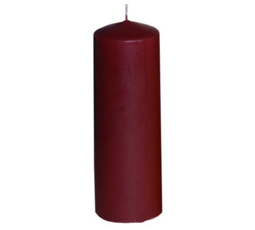 svíčka 20X7CM - tmavě červená, Basics (6,7/20cm) - Steinhart