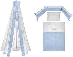 BÄDDSET FÖR SPJÄLSÄNG - vit/blå, Basics, textil - Patinio