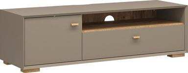 LOWBOARD melaminharzbeschichtet Grau - Eichefarben/Grau, Design, Holz (141/41/45cm) - Linea Natura