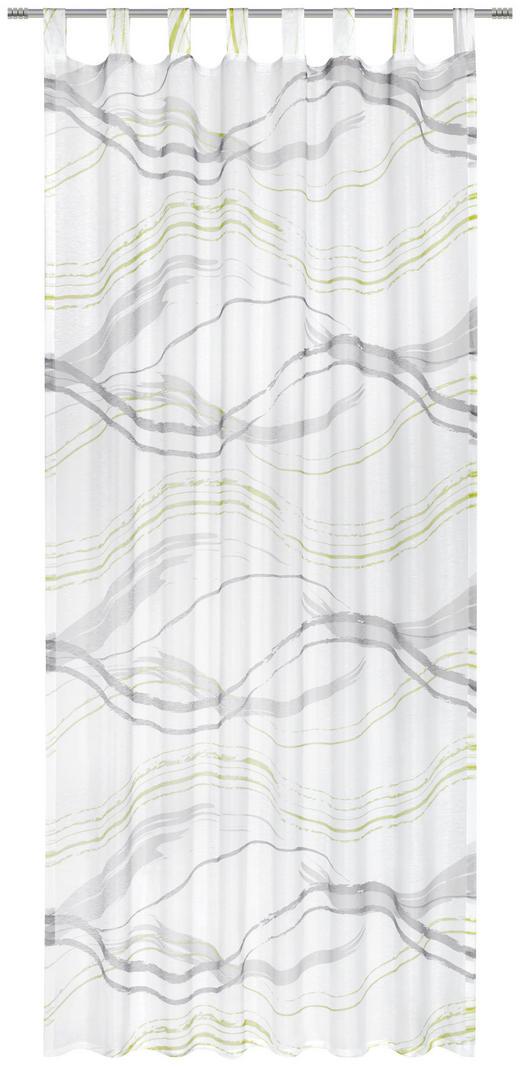 SCHLAUFENVORHANG transparent - Grau/Grün, KONVENTIONELL, Textil (135/245cm) - Esposa