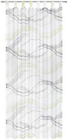 ZAVESA Z ZANKAMI ONDO - siva/zelena, Design, tekstil (135/245cm) - Esposa