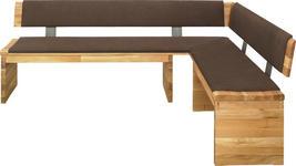 ECKBANK 210/150 cm  in Braun, Eichefarben  - Eichefarben/Braun, Natur, Holz/Textil (210/150cm) - Linea Natura