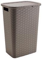 KOŠARA ZA RUBLJE - smeđa, Basics, plastika (44/33/60cm) - Homeware