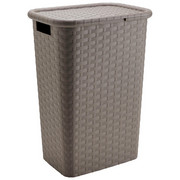 Wäschekorb - Braun, Basics, Kunststoff (44/33/60cm) - Homeware
