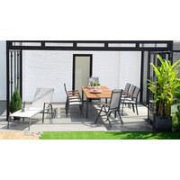 STAPELSESSEL - Hellgrau/Naturfarben, Design, Holz/Textil (61,8/92,5/58,3cm) - Ambia Garden