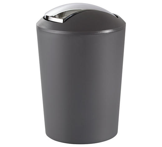 SCHWINGDECKELEIMER 5 L  - Schwarz/Grau, Basics, Kunststoff (20/28,5cm) - Kela