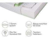 TASCHENFEDERKERNMATRATZE 80/200 cm - Weiß, Basics, Textil (80/200cm) - Physiosleep