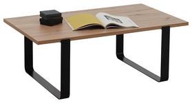 COUCHTISCH in Metall, Holzwerkstoff 108/60/40 cm   - Eichefarben/Schwarz, Natur, Holzwerkstoff/Metall (108/60/40cm) - Carryhome
