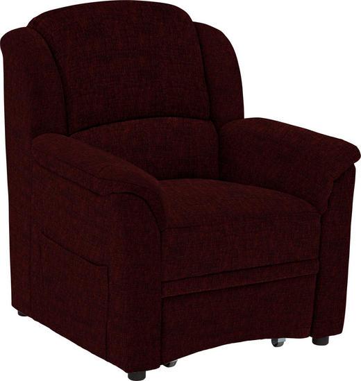 SESSEL in Textil Rot - Rot/Schwarz, KONVENTIONELL, Kunststoff/Textil (94/98/89cm) - Beldomo Comfort