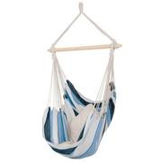 VISEČ SEDEŽ - svetlo modra/siva, Basics, tekstil/les (150/120cm) - Ambia Garden