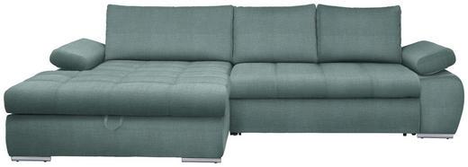 WOHNLANDSCHAFT Hellblau - Chromfarben/Grau, Design, Kunststoff/Textil (173/294cm) - Carryhome
