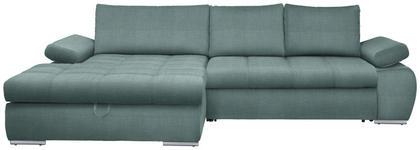 WOHNLANDSCHAFT in Textil Hellblau  - Chromfarben/Hellblau, Design, Kunststoff/Textil (173/294cm) - Carryhome
