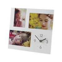 FOTOUHR 3,8/26/26 cm - Silberfarben/Weiß, Basics, Kunststoff (3,8/26/26cm) - Boxxx