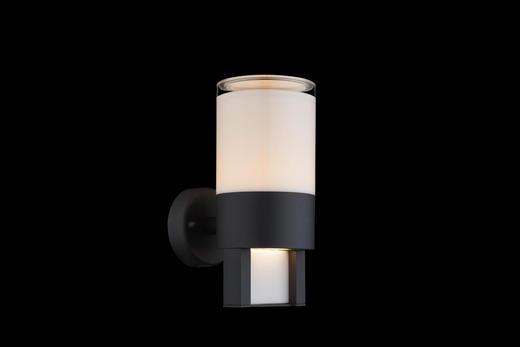 AUßENLEUCHTE Klar, Opal - Klar/Opal, MODERN, Kunststoff/Metall (10/15/22,5cm)