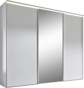 SKJUTDÖRRSGARDEROB - vit/alufärgad, Design, metall/glas (249/240/68cm) - Moderano