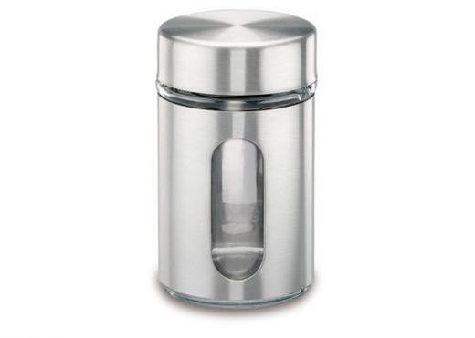 GEWÜRZGLAS - Edelstahlfarben, Basics, Glas/Metall (0,075l) - JUSTINUS