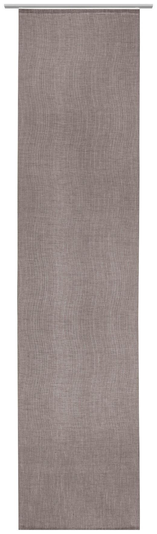 Flächenvorhang in Braun - Braun, Design, Textil (60/255cm) - Novel