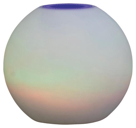 LED-LAMPE POOL - Weiß, Design, Kunststoff (25//cm)