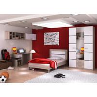 SOBA ZA MLADE  bijela, hrast Sonoma  - bijela/hrast Sonoma, Design, staklo/drvni materijal (360/218/60cm) - Boxxx