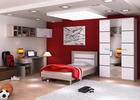 SOBA ZA MLADE - bijela/hrast Sonoma, Design, staklo/drvni materijal (360/221/60cm) - Boxxx