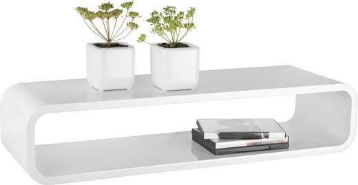 REGÁL NÁSTĚNNÝ - bílá, Design, kompozitní dřevo (80/17/25cm) - Xora