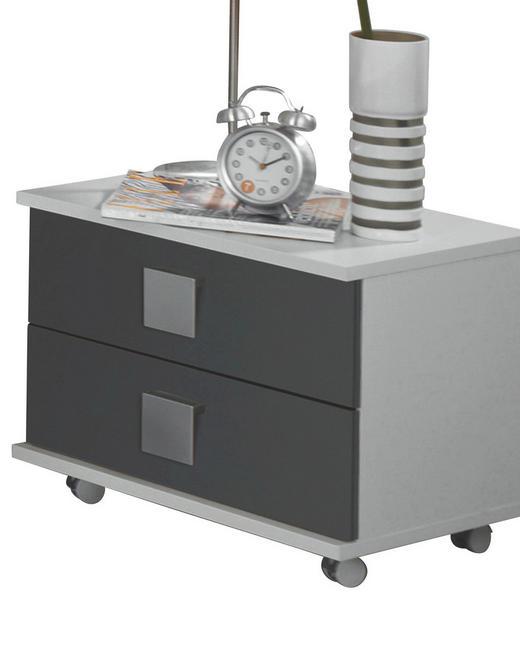NACHTKÄSTCHEN Wasserlack Grau, Weiß - Weiß/Grau, Design, Kunststoff (50/41/38cm) - Carryhome
