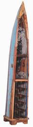 WEINREGAL Altholz massiv Blau, Braun - Blau/Braun, Design, Holz (39/225/44cm) - Carryhome
