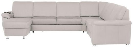 WOHNLANDSCHAFT - Chromfarben/Creme, KONVENTIONELL, Textil/Metall (163/330/240cm) - Beldomo System