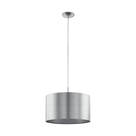 HÄNGELEUCHTE - Silberfarben/Nickelfarben, MODERN, Kunststoff/Metall (45/110cm)