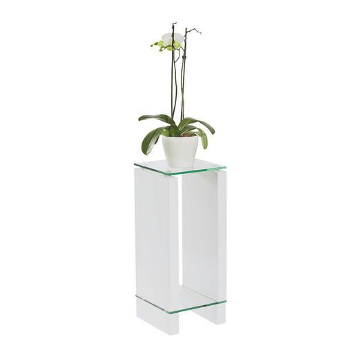 BLUMENTISCH Glas - Klar/Weiß, Design, Glas/Holzwerkstoff (25/60/25cm) - Carryhome
