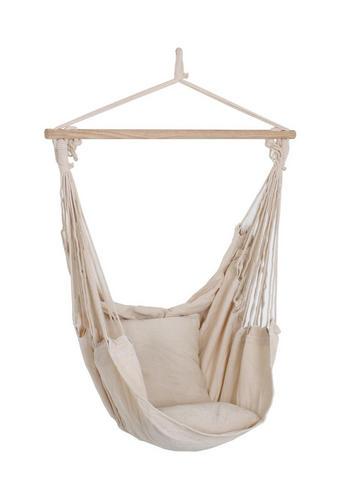 HÄNGESESSEL Beige - Beige/Braun, Trend, Holz/Textil (90/120/60cm)