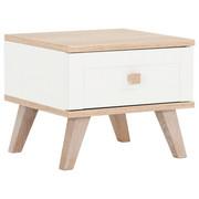 NOČNÍ STOLEK, barvy dubu, bílá - bílá/barvy dubu, Design, kompozitní dřevo (42/38/41cm) - Carryhome