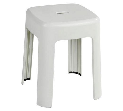 BADHOCKER Kunststoff - Weiß, Basics, Kunststoff (37/45,5/37cm)