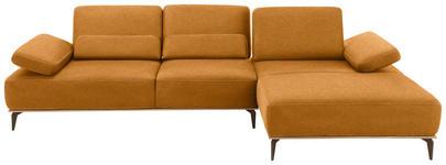 WOHNLANDSCHAFT in Textil Hellbraun  - Hellbraun/Beige, Design, Textil/Metall (298/178cm) - Valnatura