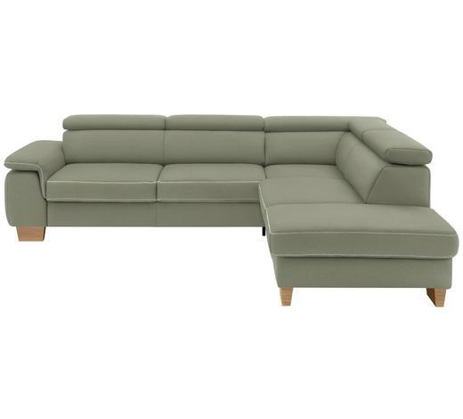 WOHNLANDSCHAFT in Textil Naturfarben  - Eichefarben/Beige, LIFESTYLE, Holz/Textil (226/273cm) - Beldomo System