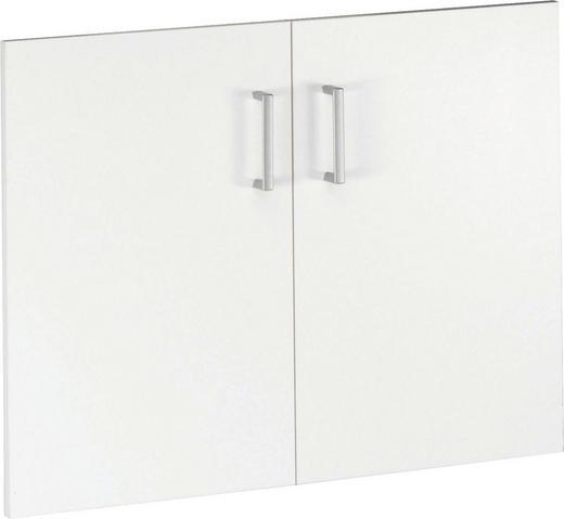TÜRENSET 68/51/2 cm Weiß - Silberfarben/Weiß, Design, Kunststoff (68/51/2cm) - CS SCHMAL