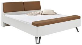 STAURAUMBETT 180/200 cm - Alufarben/Braun, KONVENTIONELL, Textil/Metall (180/200cm) - Hom`in