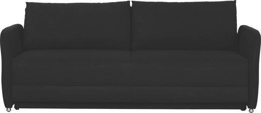 SCHLAFSOFA Schwarz - Schwarz/Alufarben, Design, Textil/Metall (204/90/91cm) - NOVEL